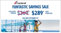 carnival's funtastic savings sale