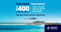 your cruise, your choice with msc